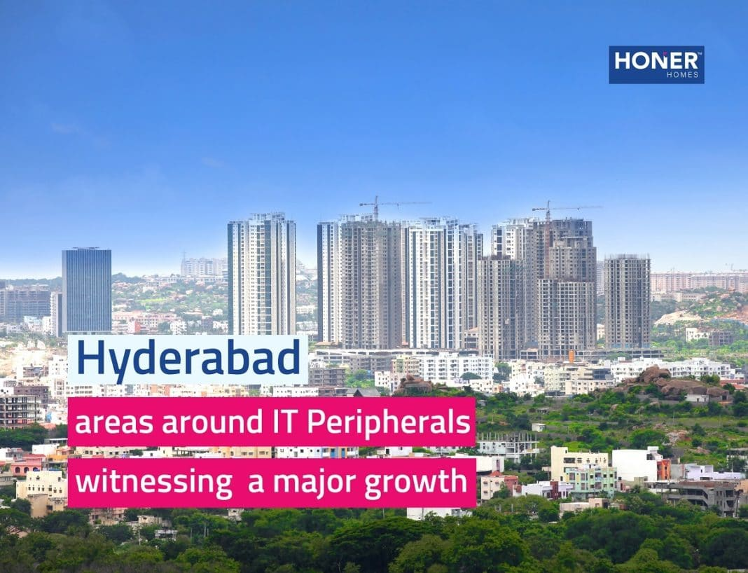 areas around IT peripherals which are witnessing a major growith in hyderabad, gated community apartments in gachibowli, residential apartments in gachibowli